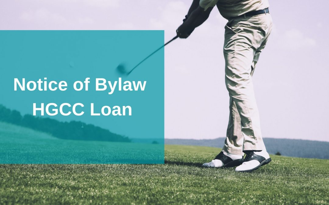 Public Notice-Golf Club Loan Bylaw